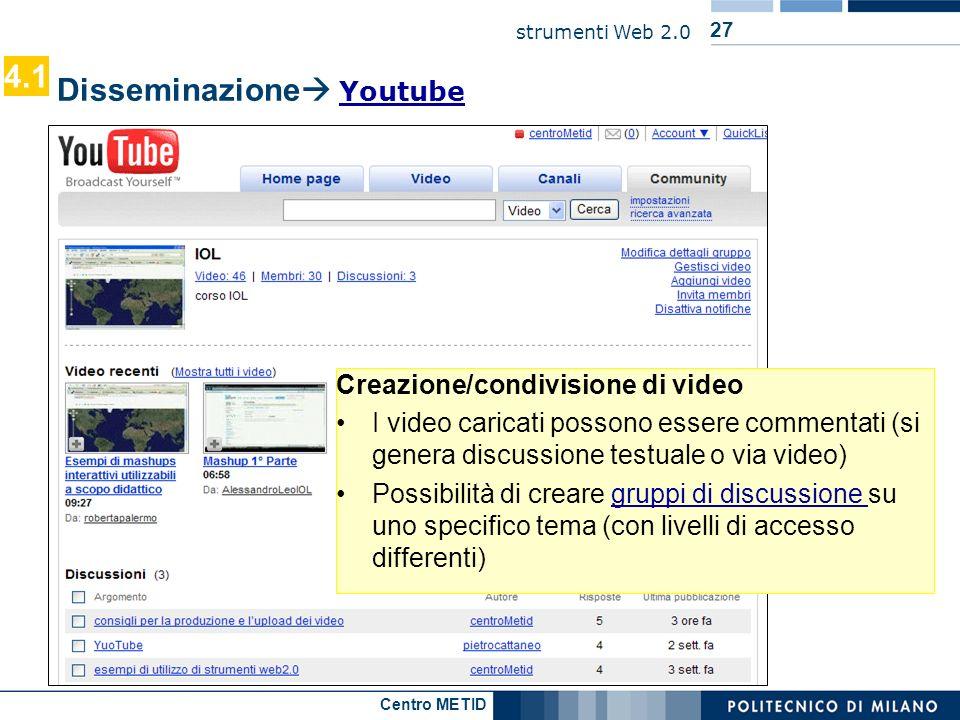 Disseminazione Youtube