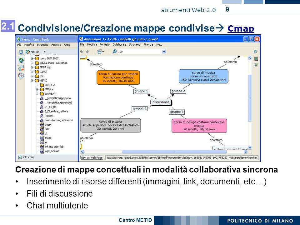 Condivisione/Creazione mappe condivise Cmap