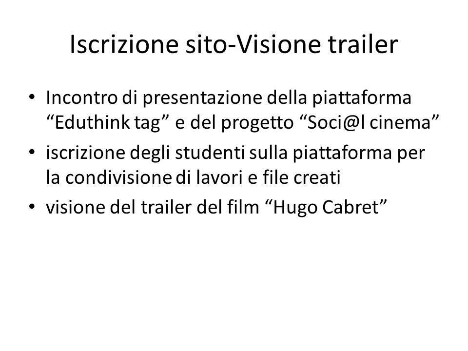 Iscrizione sito-Visione trailer