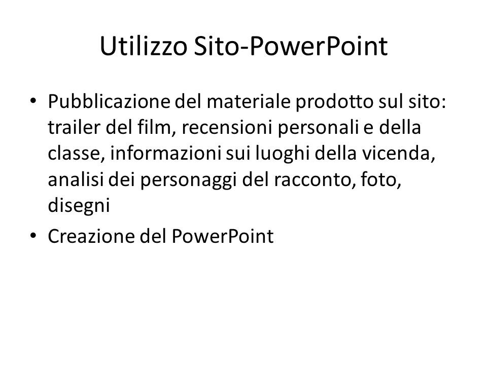 Utilizzo Sito-PowerPoint