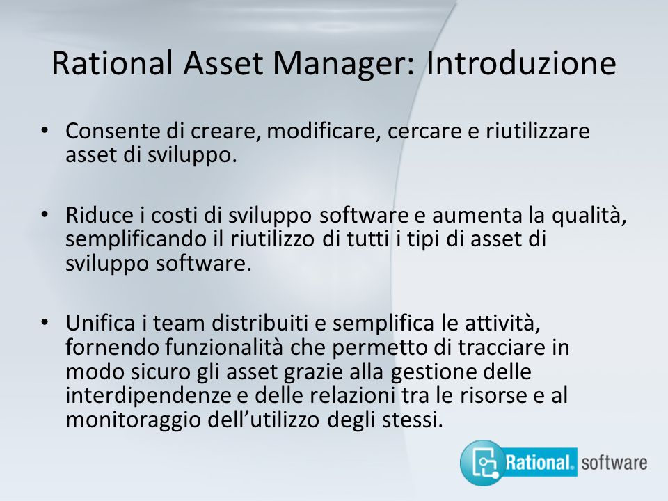 Rational Asset Manager: Introduzione