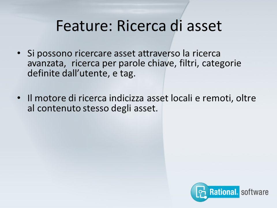 Feature: Ricerca di asset