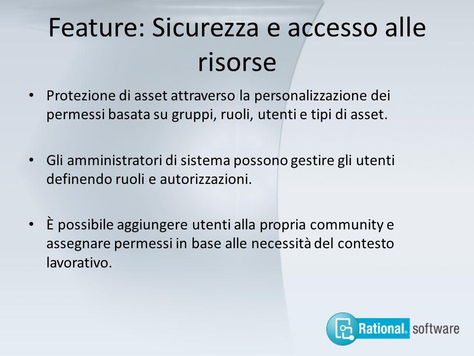 Feature: Sicurezza e accesso alle risorse