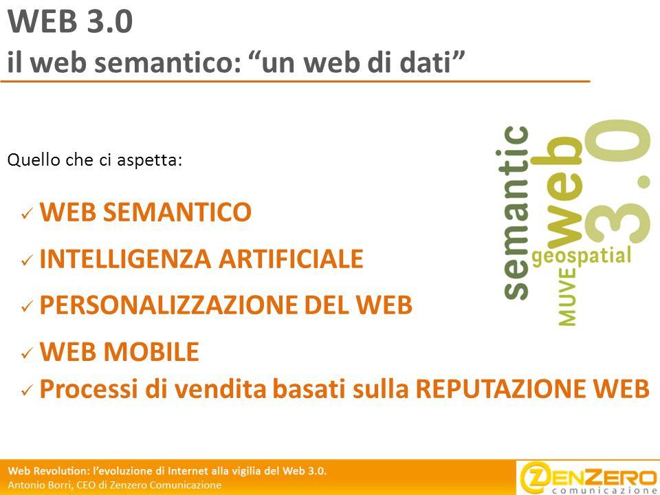 WEB 3.0 il web semantico: un web di dati