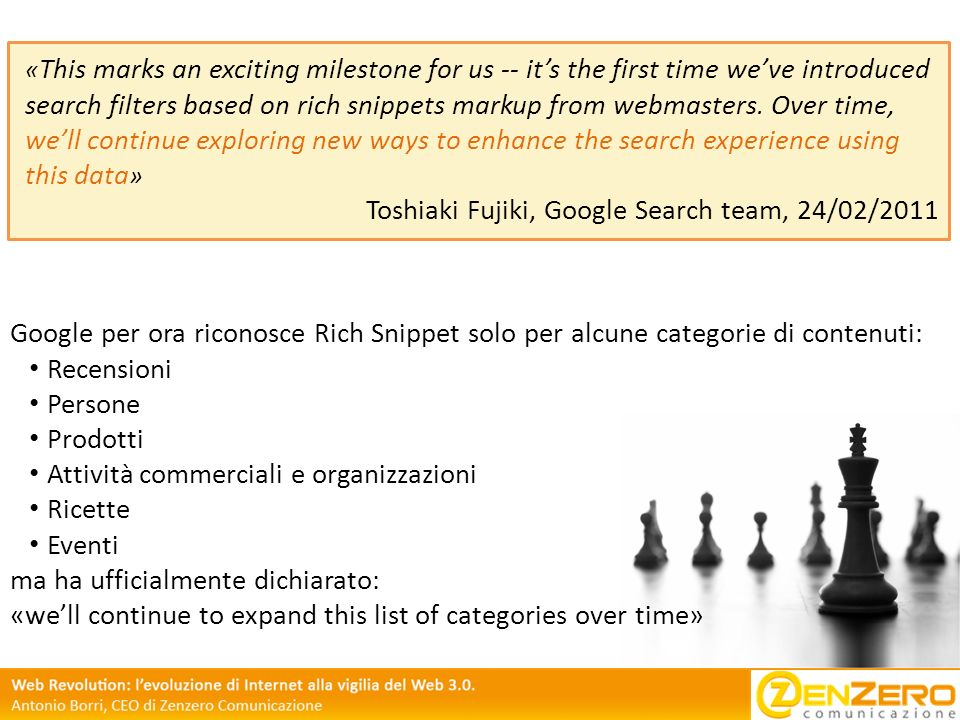 Toshiaki Fujiki, Google Search team, 24/02/2011
