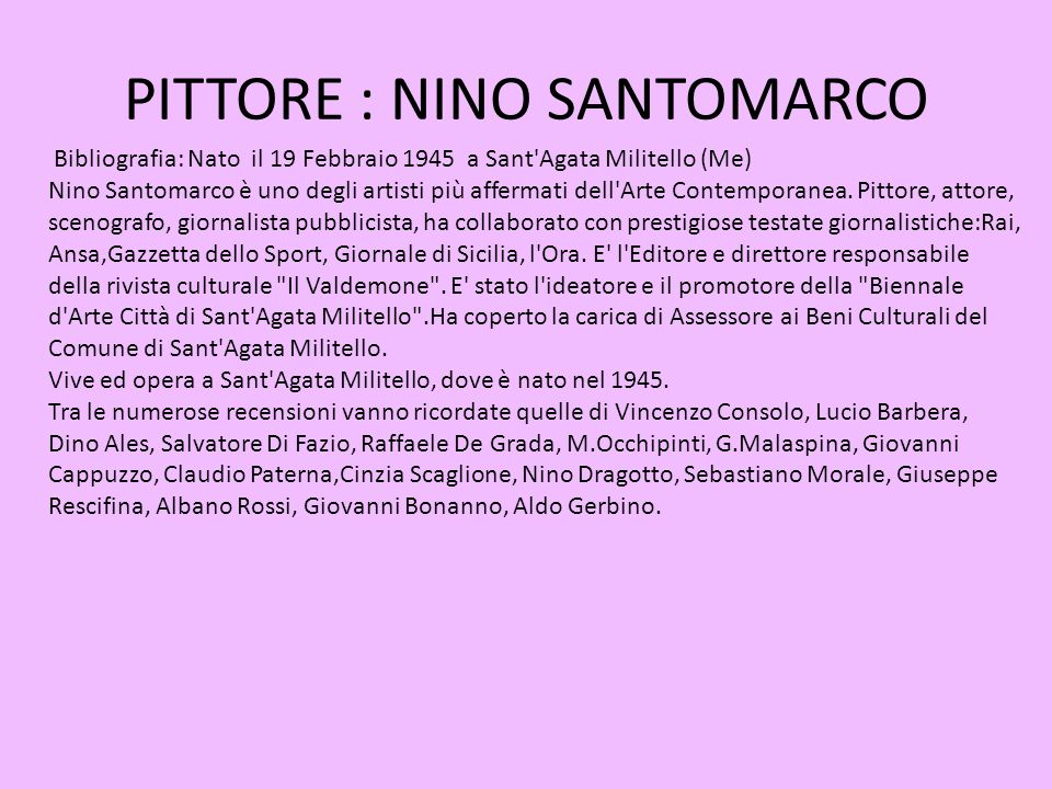 PITTORE : NINO SANTOMARCO