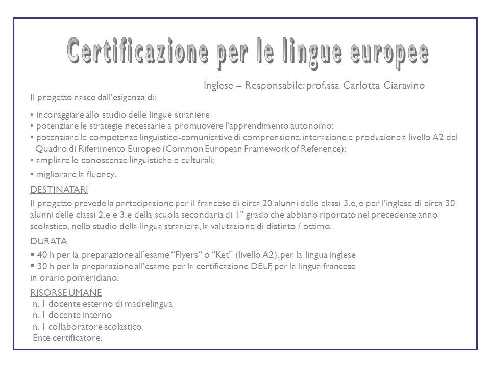 Certificazione per le lingue europee