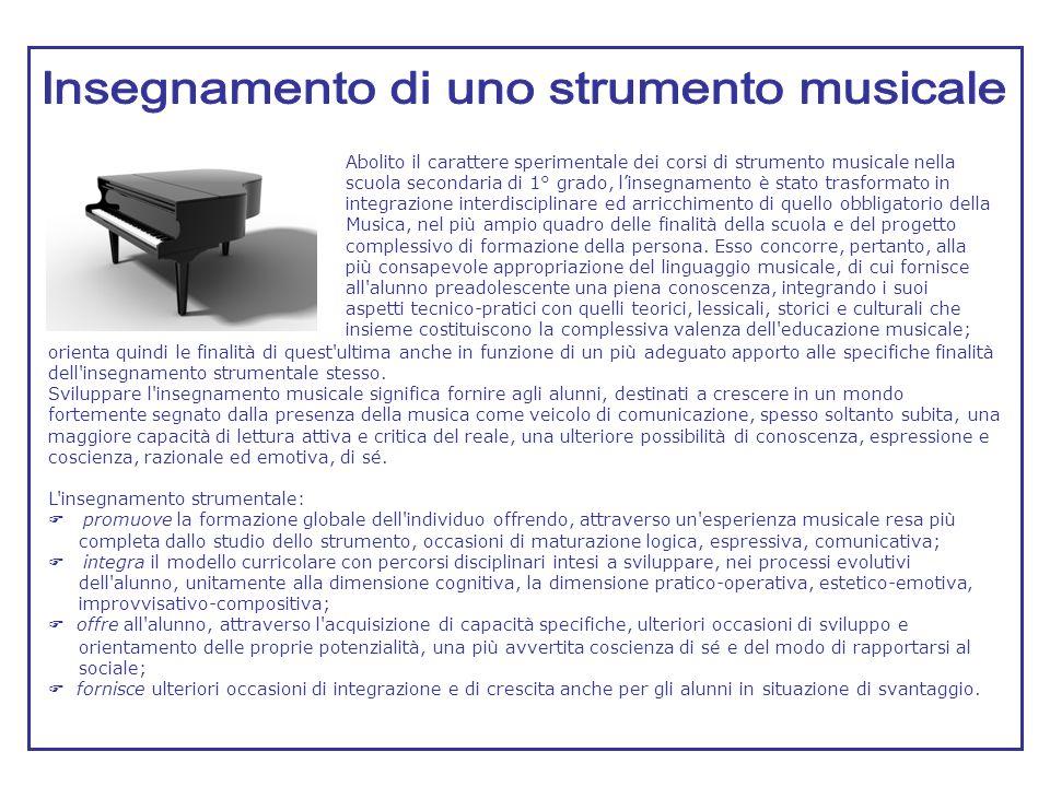 Insegnamento di uno strumento musicale