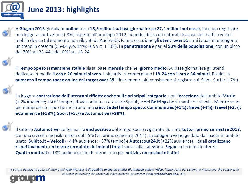 June 2013: highlights