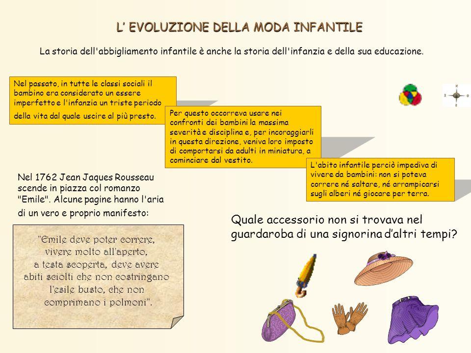 L' EVOLUZIONE DELLA MODA INFANTILE
