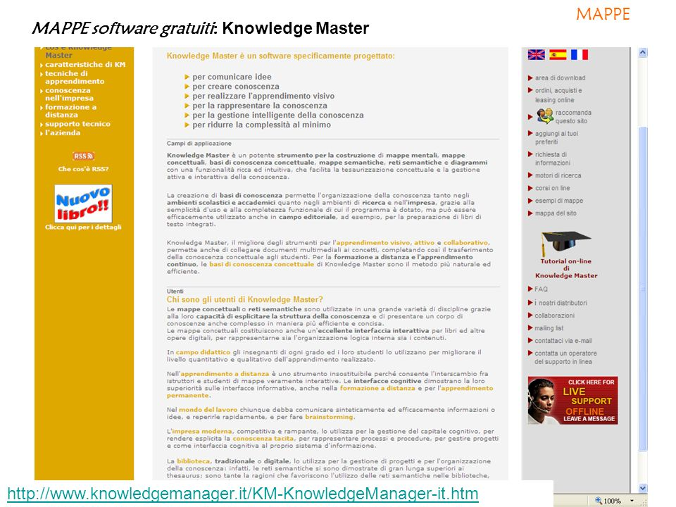 MAPPE MAPPE software gratuiti: Knowledge Master.