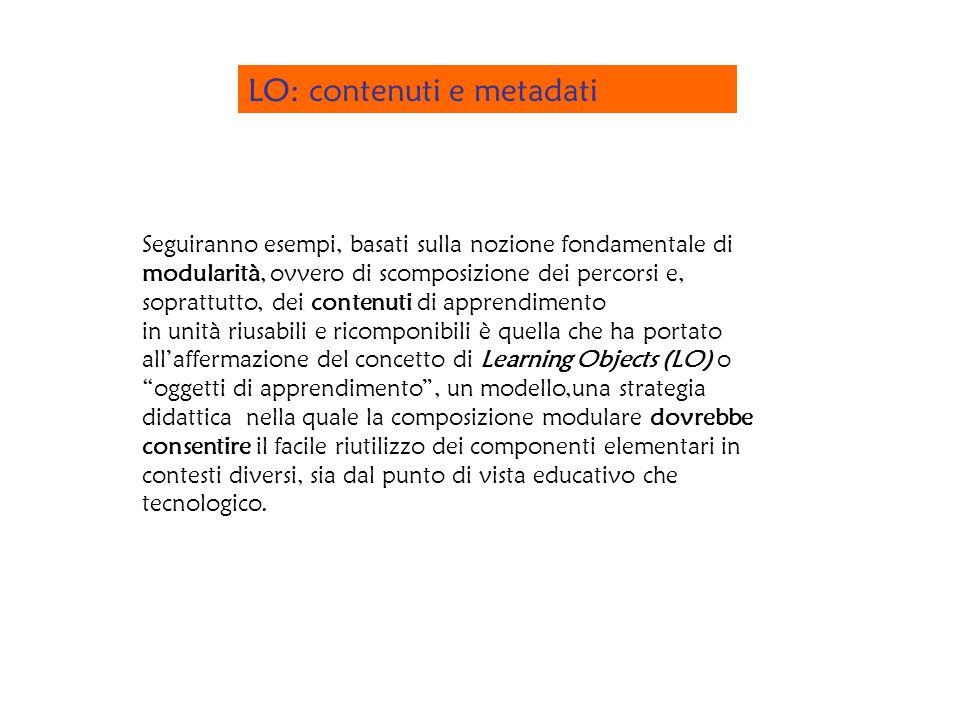 LO: contenuti e metadati