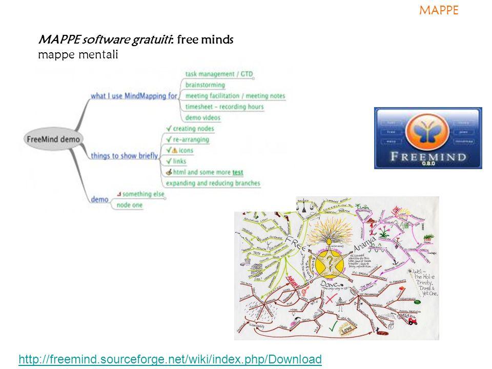 MAPPE MAPPE software gratuiti: free minds mappe mentali.