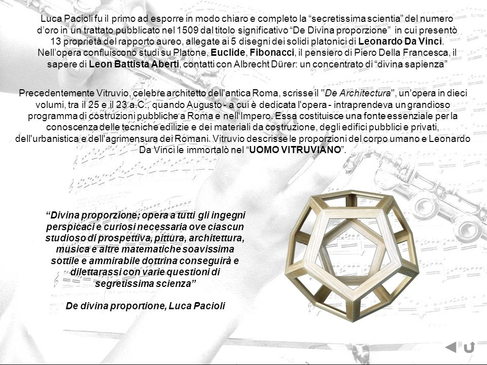 De divina proportione, Luca Pacioli