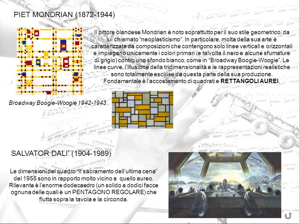 Fondamentale è l'accostamento di quadrati e RETTANGOLI AUREI.