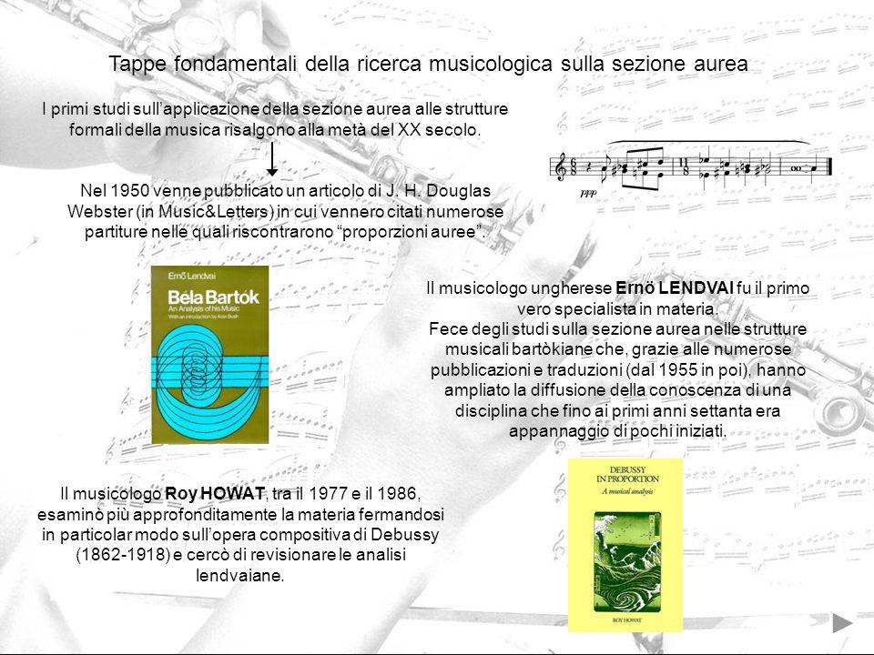 Tappe fondamentali della ricerca musicologica sulla sezione aurea