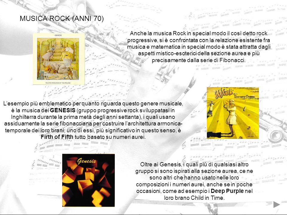 MUSICA ROCK (ANNI 70)