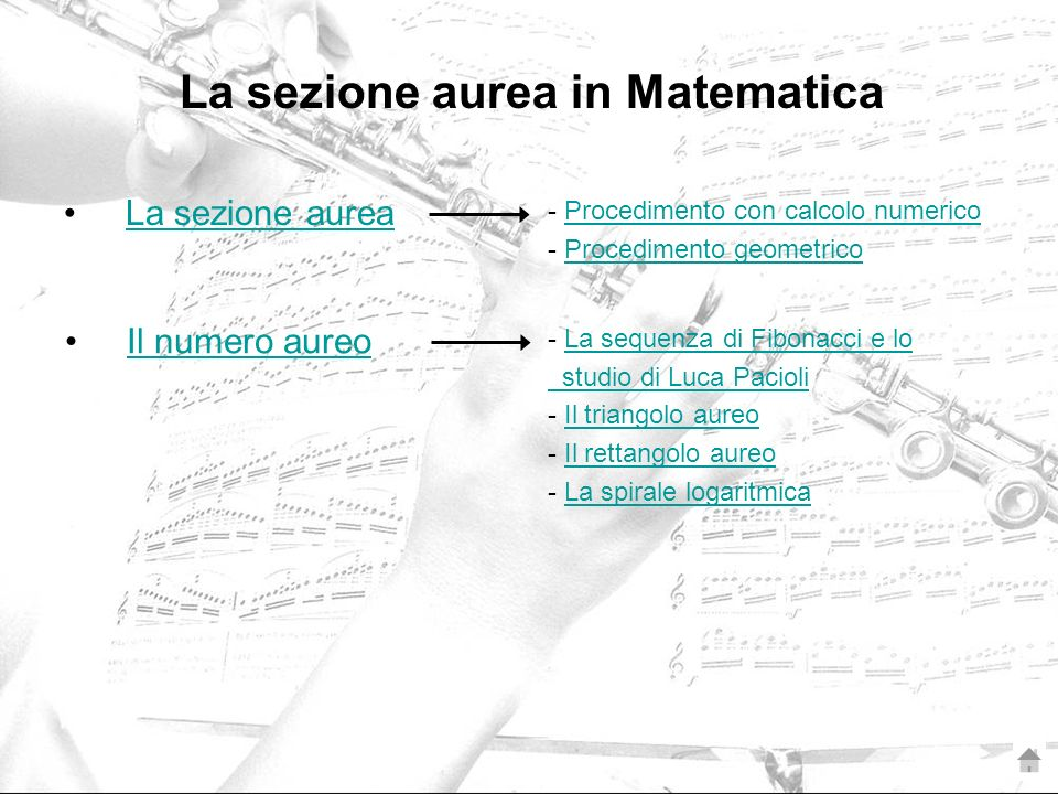 La sezione aurea in Matematica
