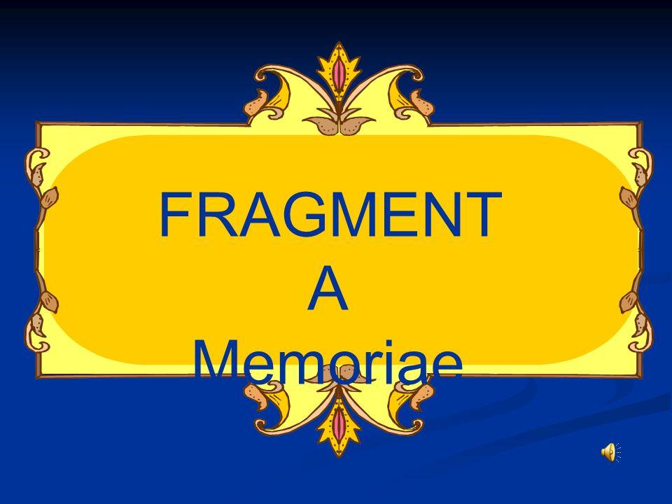 FRAGMENTA Memoriae