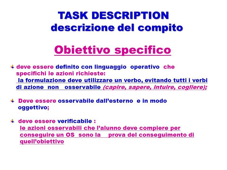 descrizione del compito