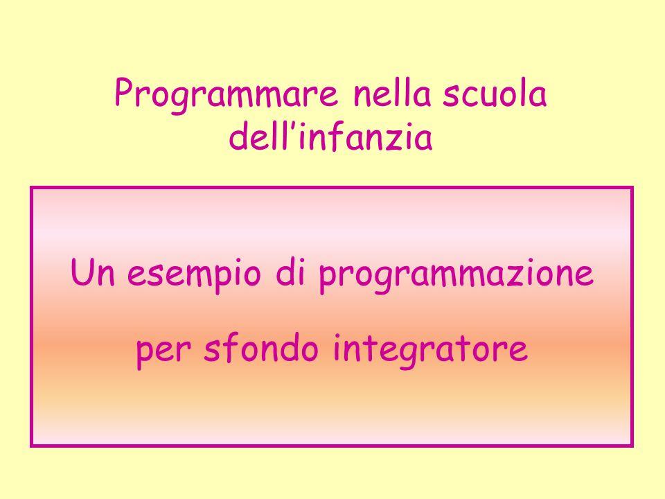 Programmare nella scuola dell'infanzia