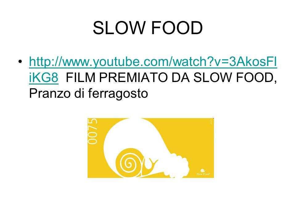 SLOW FOOD http://www.youtube.com/watch v=3AkosFliKG8 FILM PREMIATO DA SLOW FOOD, Pranzo di ferragosto.