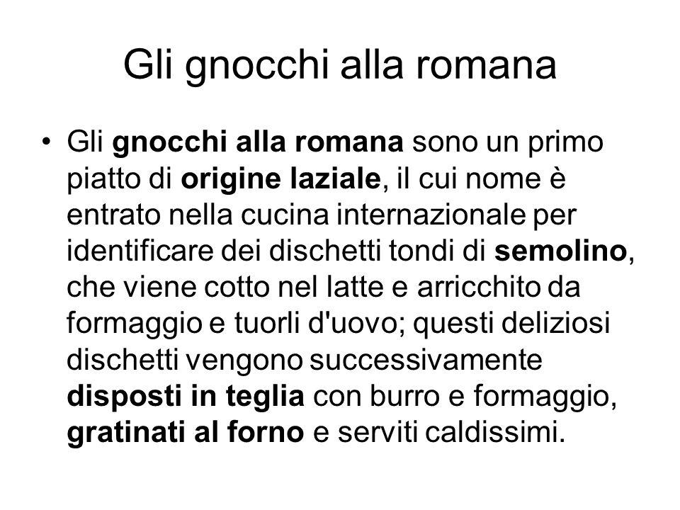 Gli gnocchi alla romana