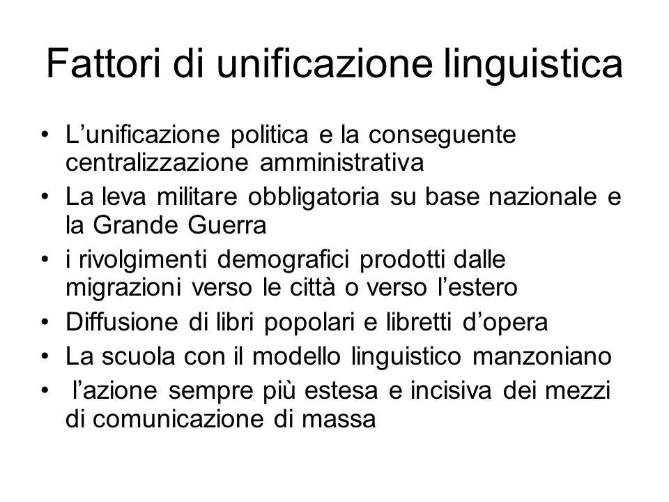 Fattori di unificazione linguistica