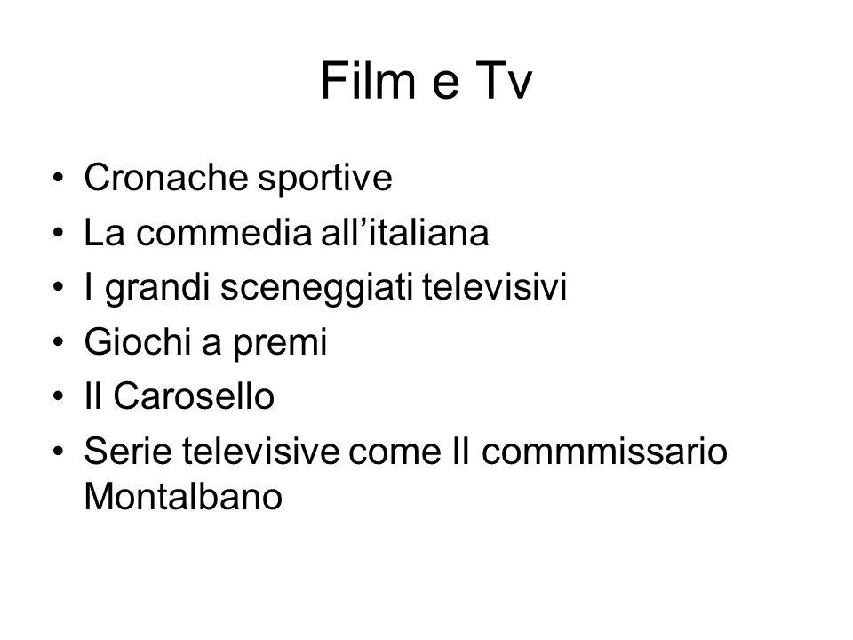 Film e Tv Cronache sportive La commedia all'italiana