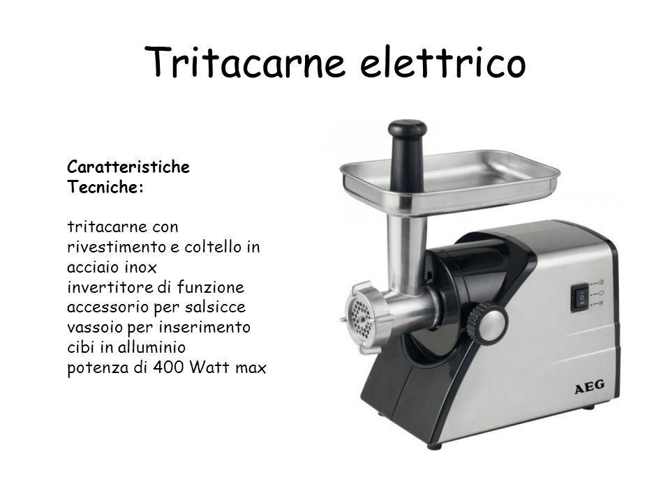 Tritacarne elettrico Caratteristiche Tecniche: