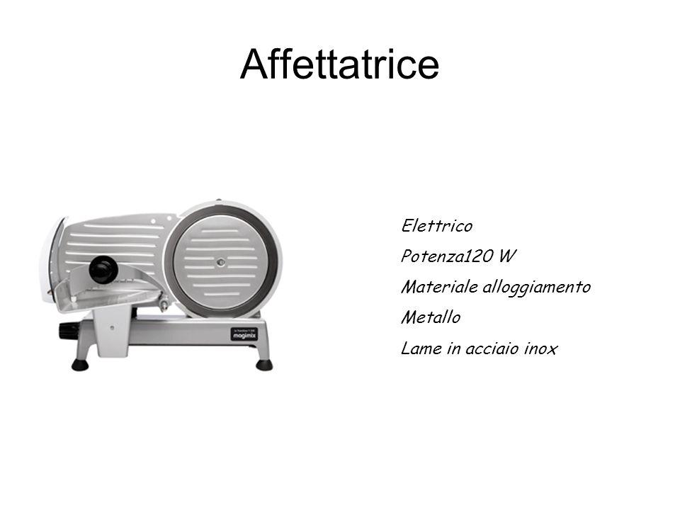 Affettatrice Elettrico Potenza120 W Materiale alloggiamento Metallo