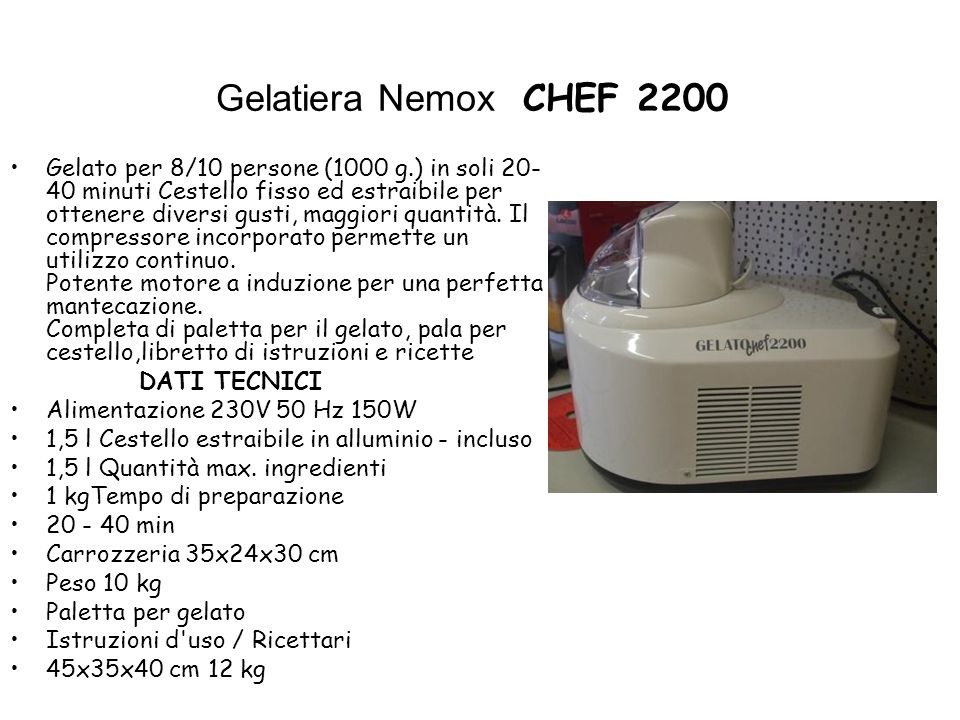Gelatiera Nemox CHEF 2200