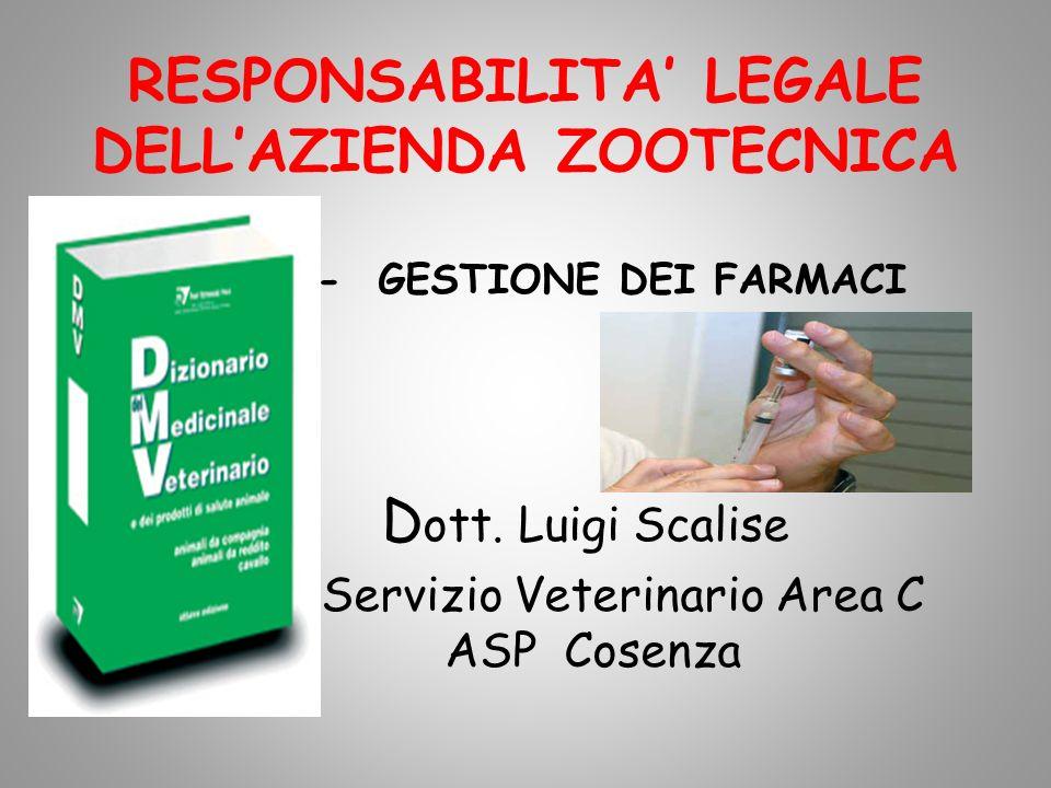 RESPONSABILITA' LEGALE DELL'AZIENDA ZOOTECNICA
