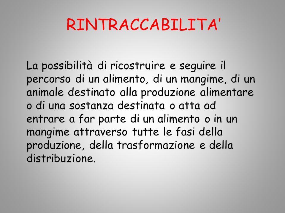 RINTRACCABILITA'