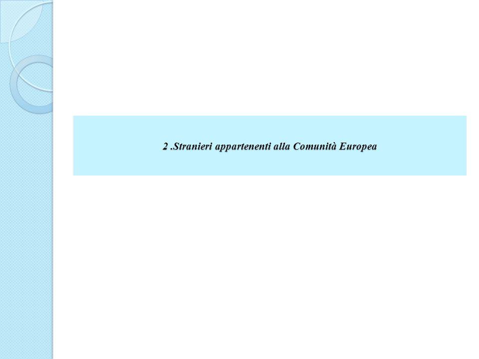 2 .Stranieri appartenenti alla Comunità Europea
