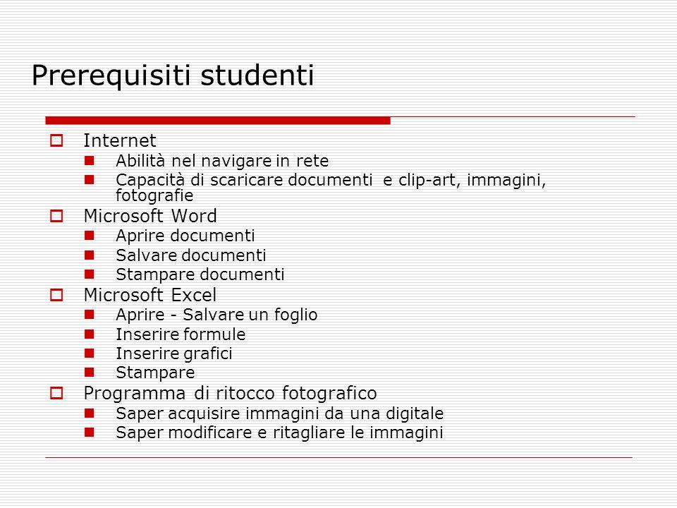 Prerequisiti studenti