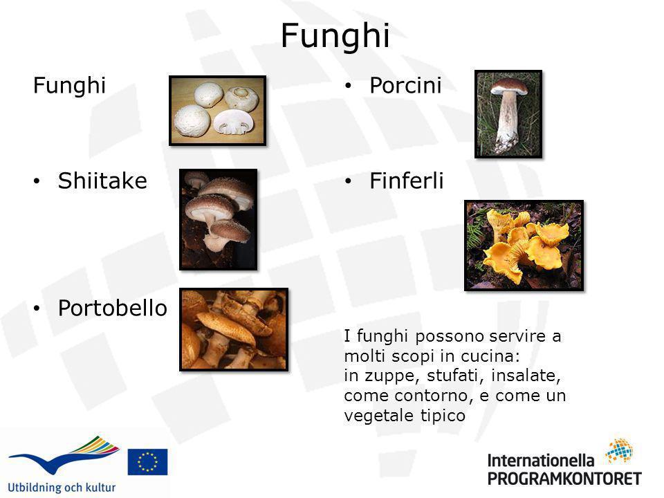 Funghi Funghi Shiitake Portobello Porcini Finferli