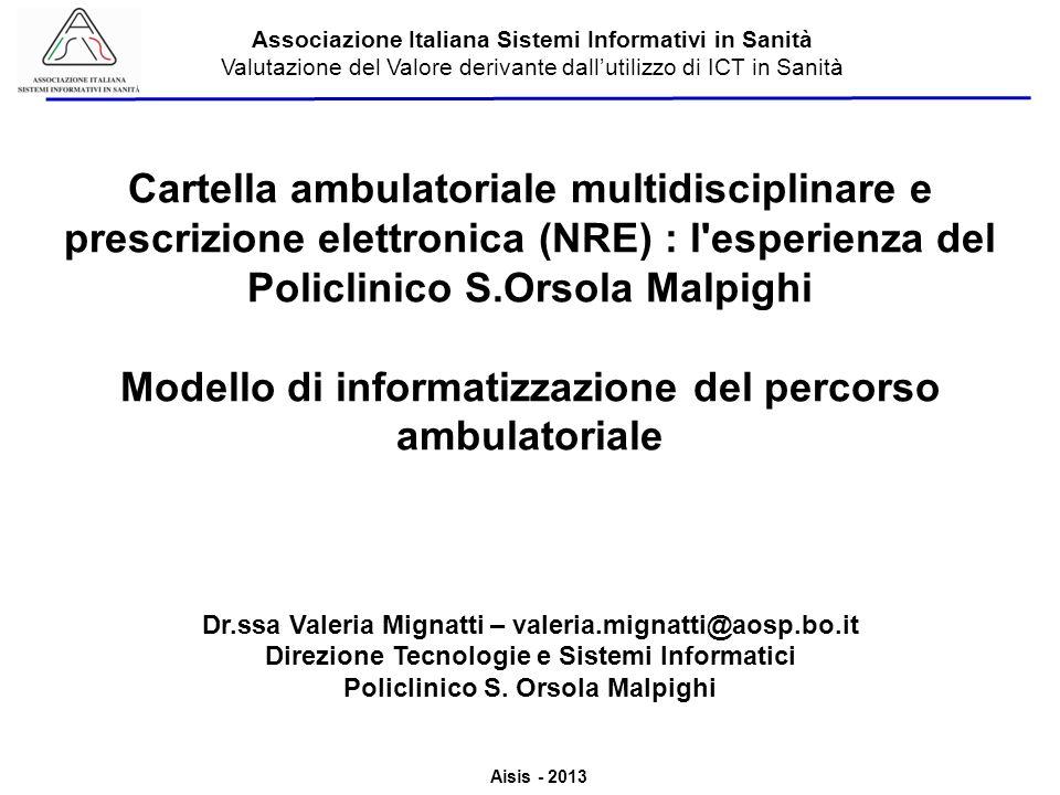 Modello di informatizzazione del percorso ambulatoriale