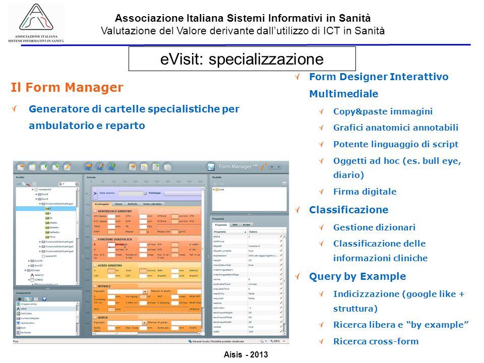 eVisit: specializzazione