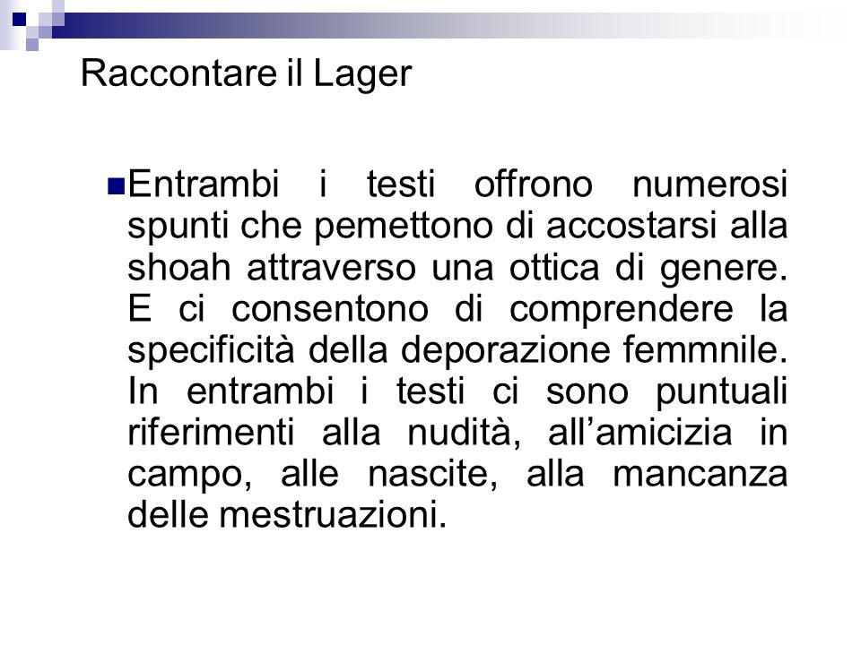 Raccontare il Lager
