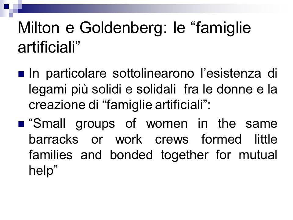 Milton e Goldenberg: le famiglie artificiali