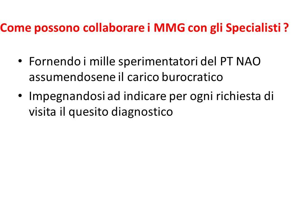 Come possono collaborare i MMG con gli Specialisti