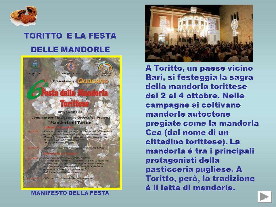 TORITTO E LA FESTA DELLE MANDORLE