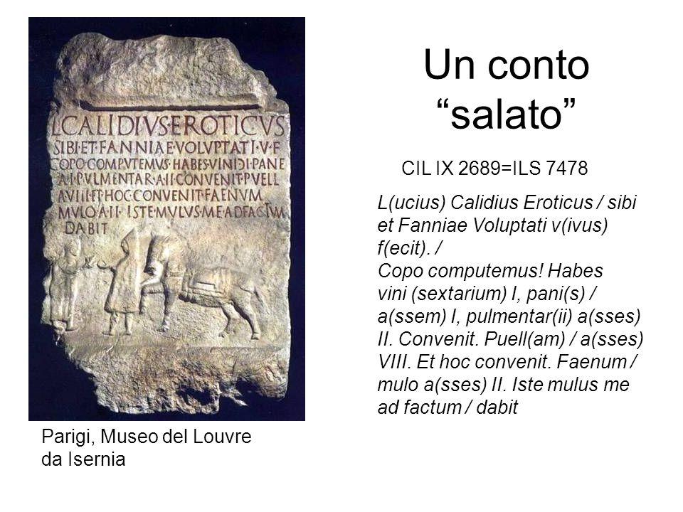 Un conto salato CIL IX 2689=ILS 7478