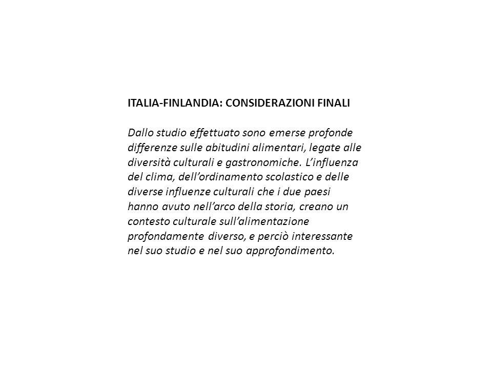 ITALIA-FINLANDIA: CONSIDERAZIONI FINALI