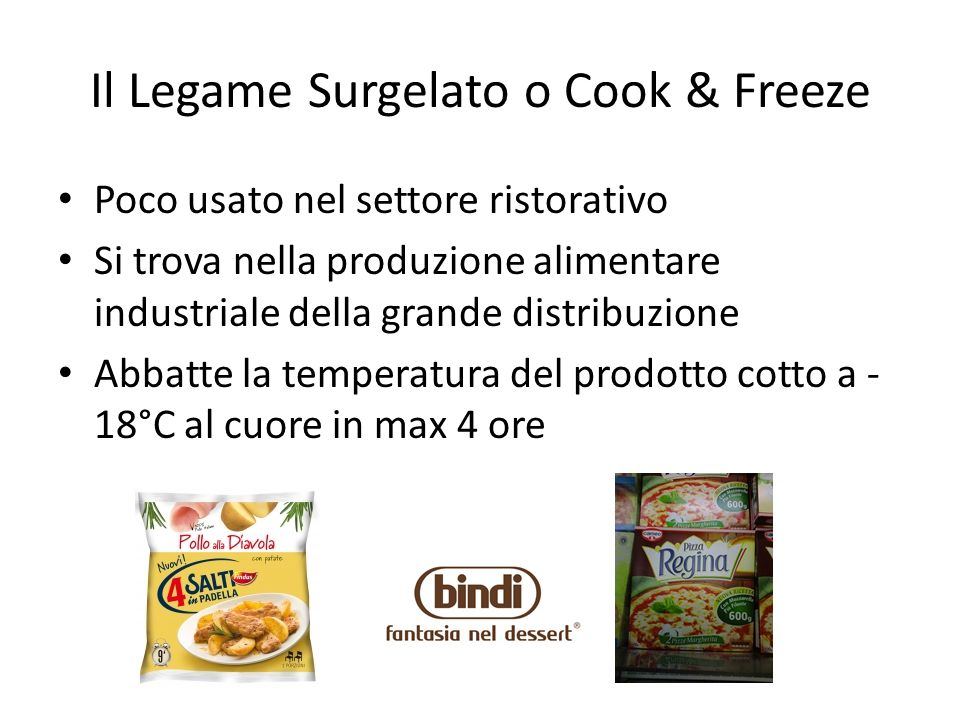 Il Legame Surgelato o Cook & Freeze