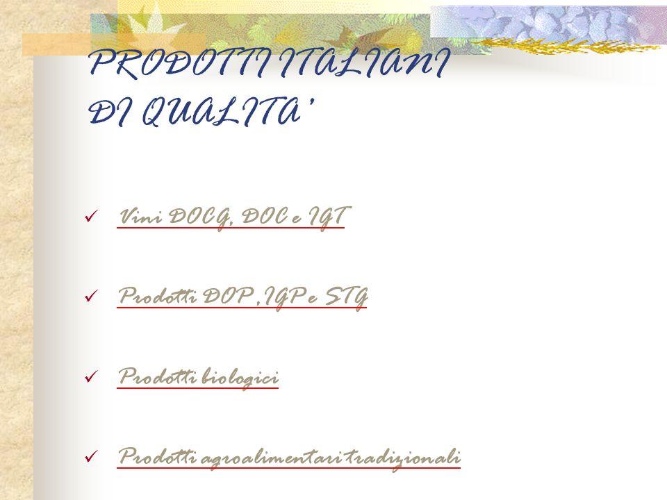 PRODOTTI ITALIANI DI QUALITA'