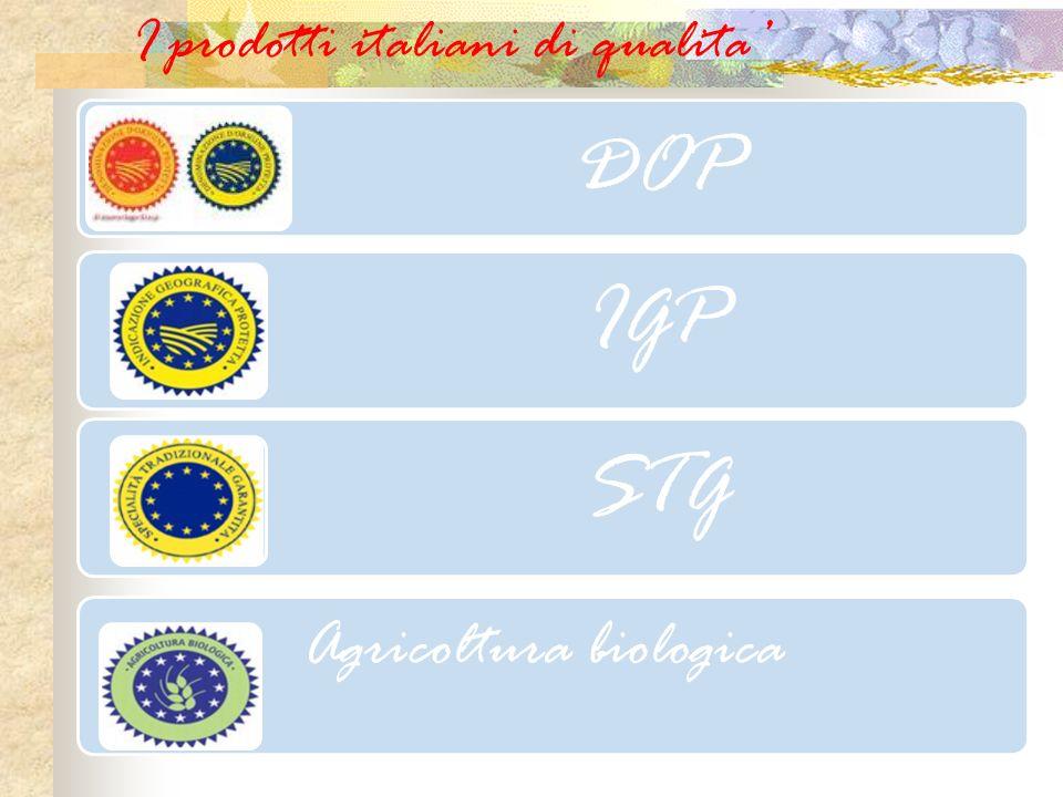 I prodotti italiani di qualita'