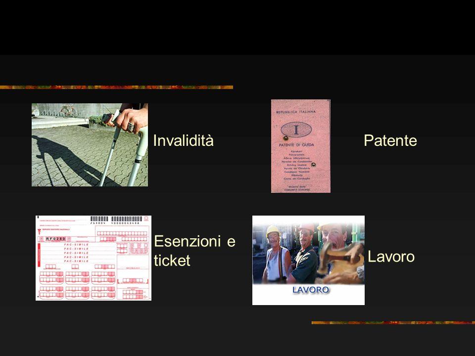 Invalidità Patente Esenzioni e ticket Lavoro