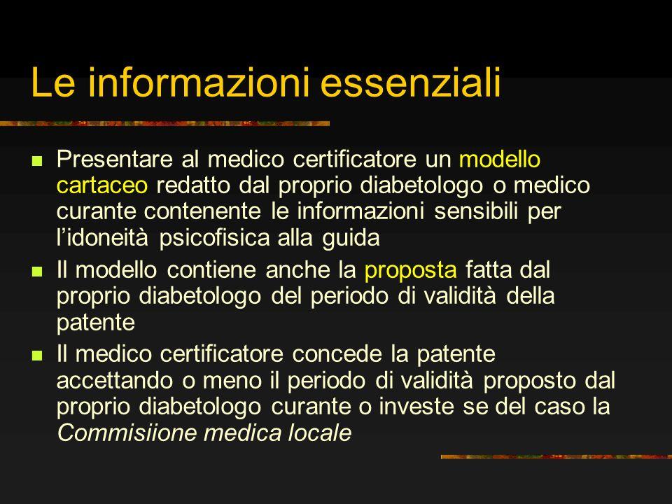 Le informazioni essenziali